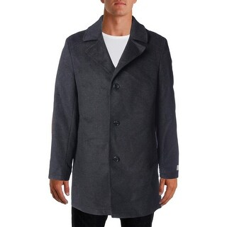 MICHAEL Michael Kors Mens Pea Coat Wool Blend Slim Fit