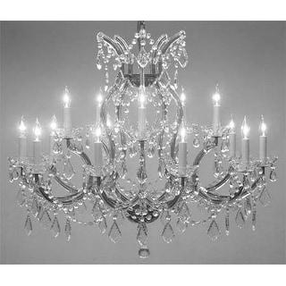 "Swarovski®Crystal Trimmed Maria Theresa Chandelier Lighting H28 X W37"""