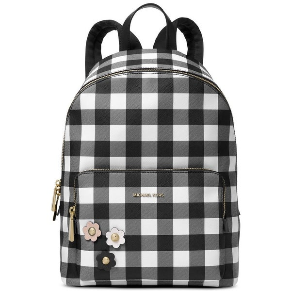 b924b771d6cce9 Shop Michael Kors Women's Wythe Large Backpack Black Check - Free ...