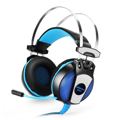 KOTION EACH GS500 3.5mm Gaming Headset Headphone with Mic Stereo Bass LED Light for PS4 PC Computer Laptop Mobile Phones
