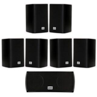 Acoustic Audio AA351B and AA32CB Mountable Indoor Speakers Home 7 Speaker Set