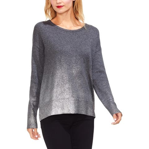 Vince Camuto Womens Pullover Sweater Metallic Ombre