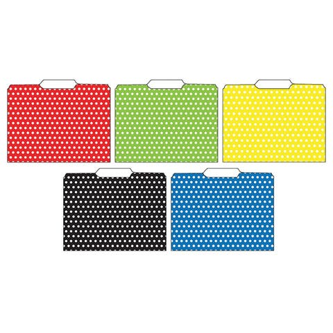 (3 Pk) Designer File Folders Polka Dot