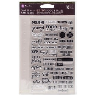 Clear Stamps, Frank Garcia Food & Travel - 4 x 6 in.