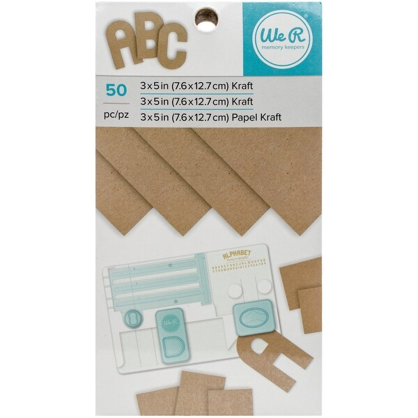 """We R Memory Keepers Paper Pad 3""""X5""""-Kraft, 50/Pkg"""