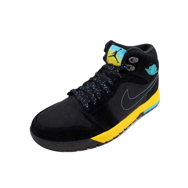 ac26a702c48c8 Shop Nike Men's Air Jordan I 1 Trek Black/Gamma Blue-Varsity Maize ...
