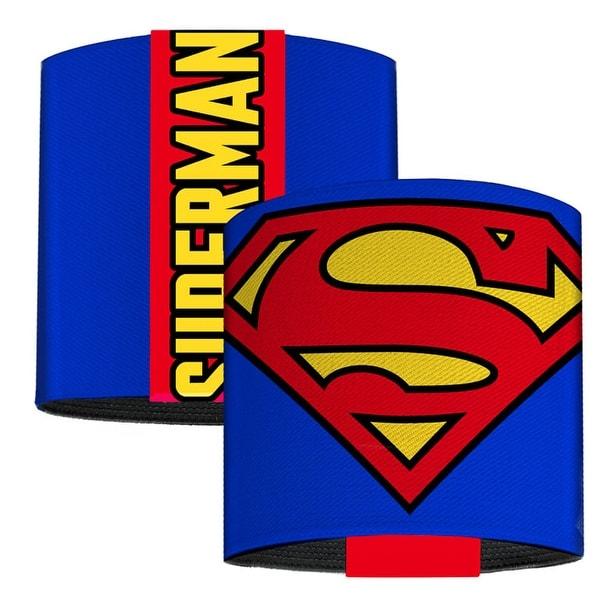 Superman Shield Blue Elastic Wrist Cuff