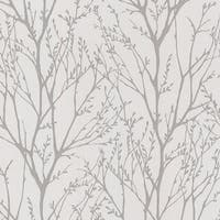 Brewster 2532-20426 Delamere Pewter Tree Branches Wallpaper - N/A