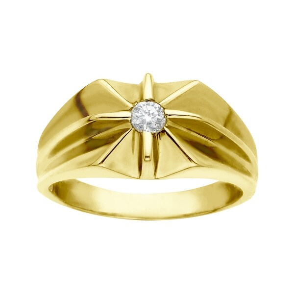 1/5 ct Diamond Men's Ring in 14K Gold