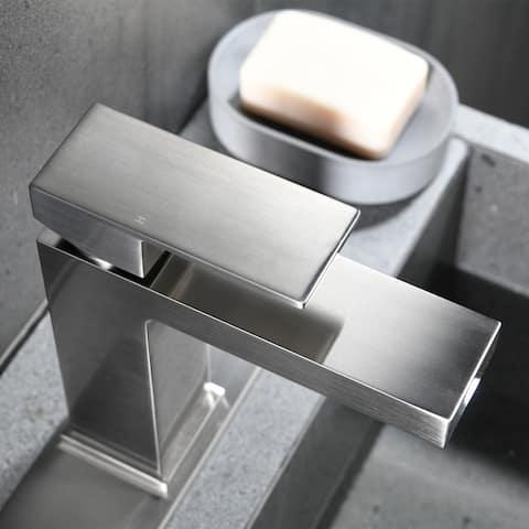 Single Handle Vessel Bathroom Sink Faucet Brushed Nickel - 4.52*1.96*6.57