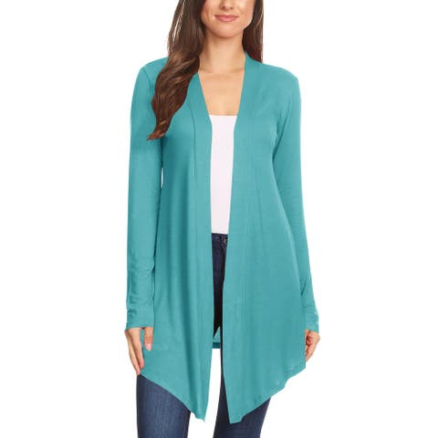 Women's Lightweight Casual Open Front Solid Cardigan