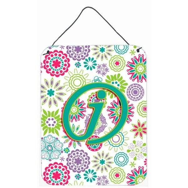 Letter J Flowers Pink Teal Green Initial Wall And Door Hanging Free Shipping On Orders Over 45 24760458