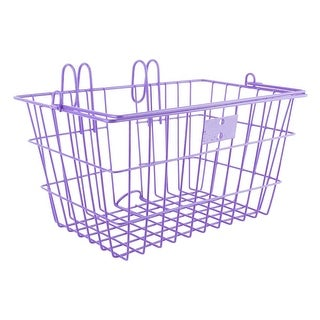 SUNLITE Lift-Off Front Bicycle Basket - Purple 14.5X8.5X7