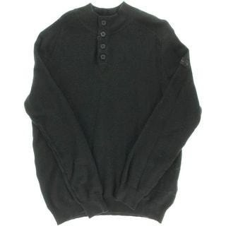Ben Sherman Mens Knit Ribbed Trim Mock Turtleneck Sweater - XL