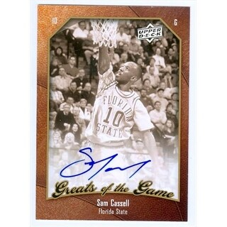 Sam Cassell Autographed Basketball Card Florida State 2010 Upper