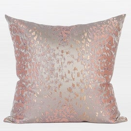 "G Home Collection Luxury Pink Leopard Pattern Satin Jacquard Pillow 20""X20"""
