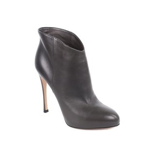 Gianvito Rossi Grey Leather High Vamp Bootie