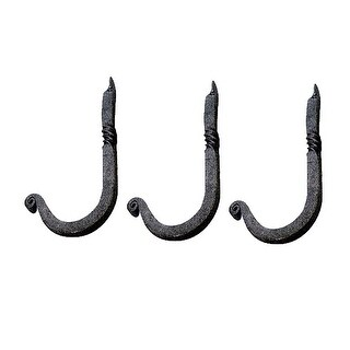 3 Hooks Black RSF Iron Single 3 1/2H X 1 1/4 Proj Renovator's Supply