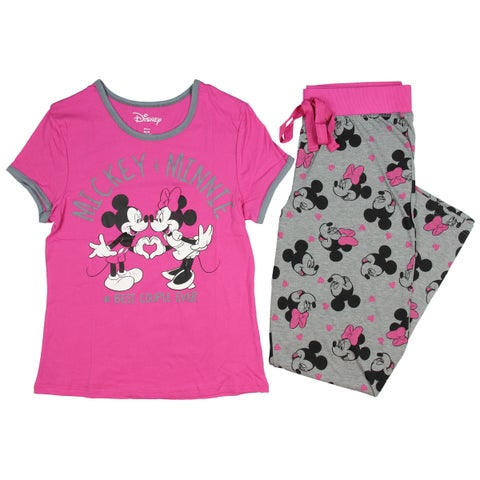 Disney Mickey Mouse Women's Best Couple Ever! 2-Piece Pajama Set
