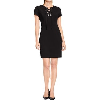 Vince Camuto Womens Wear to Work Dress Lace Up Grommet