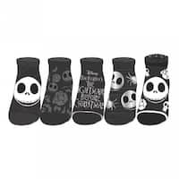 Nightmare Before Christmas No Show Jnrs Ankle Socks, 5-Pack