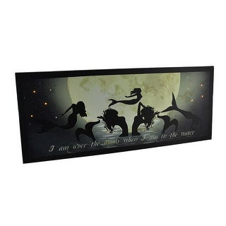 Dance of the Moon Mermaids LED Lighted Canvas Print 22 X 9 Inch