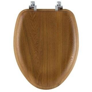 19601CP-263 Wood Enlongated Toilet Seat