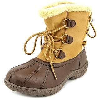 London Fog Ledbury Women Round Toe Synthetic Brown Snow Boot