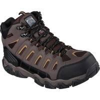 Skechers Men's Work Blais Bixford Steel Toe Boot Dark Brown