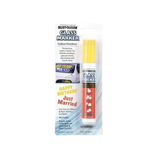 Rust-Oleum 267966 Glass Marker, Yellow