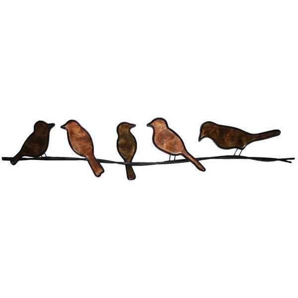 Shop Eco Style Home Esh190 Birds On A Wire Tan Free Shipping Today