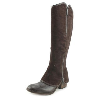 Donald J Pliner Devi Women Round Toe Leather Brown Knee High Boot