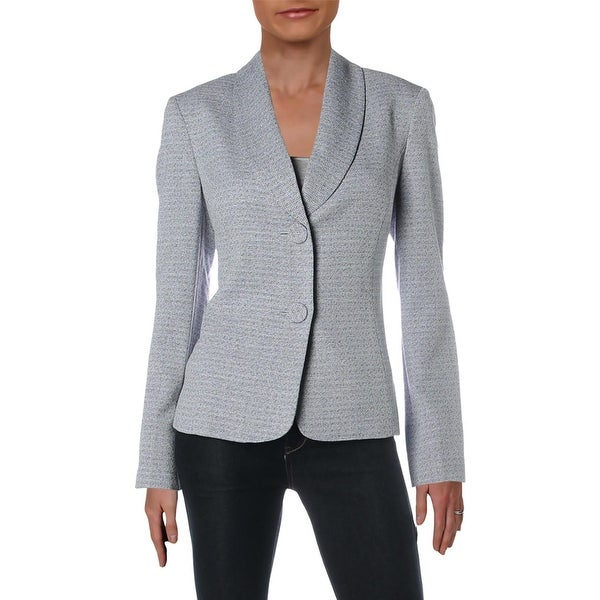 Le Suit Womens Two-Button Blazer Textured Office - 6