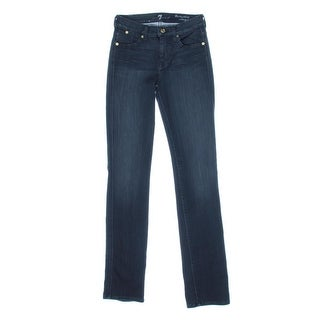 7 For All Mankind Womens Modern Tailored Straight Leg Jeans - 27