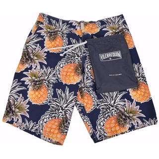 Vilebrequin Men's Blue Marine Pineapple Trunks Board Shorts XXL 2XL