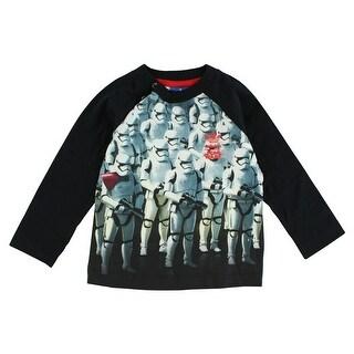 Adidas Baby Boys Star Wars Storm Trooper Villain T Shirt Black - BLACK/WHITE - 12M