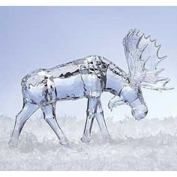 "9"" Icy Crystal Mighty Moose Decorative Christmas Table Top Figure"