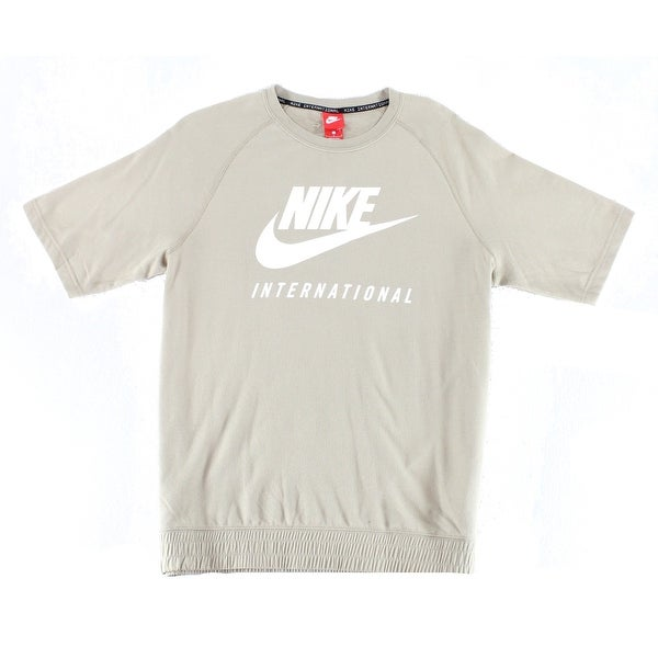 8158f814b Shop Nike Khaki Beige Mens Size Large L Logo Graphic Print Tee Shirt - Free  Shipping On Orders Over $45 - Overstock - 22398229