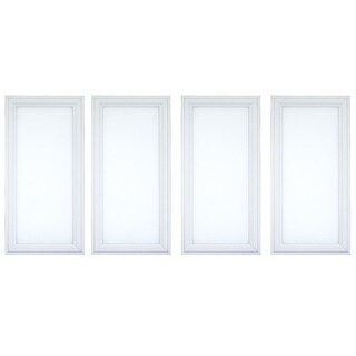 LED Edge Lit Panel Flat with Internal Driver; 120V; Dimmable; 50,000 Life Hours; Sizes 1x1, 1x2; 4 PACK & Single