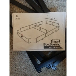 Priage by Zinus 9 inch Easy-to-Assemble Box Spring Mattress Foundation