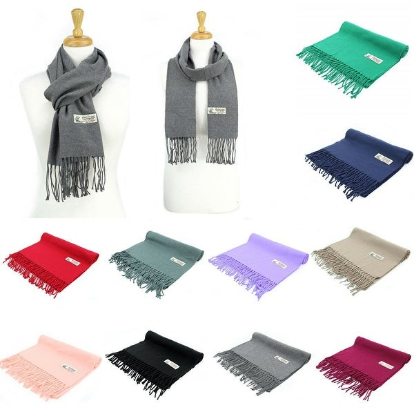 Super Soft Luxurious Classic Solid Cashmere Feel Winter Scarf. Opens flyout.