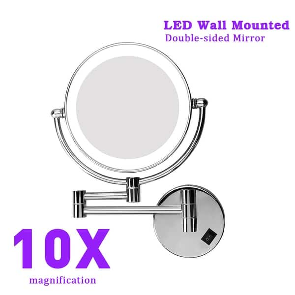 8 Inch Two Sided Led Swivel Lighted