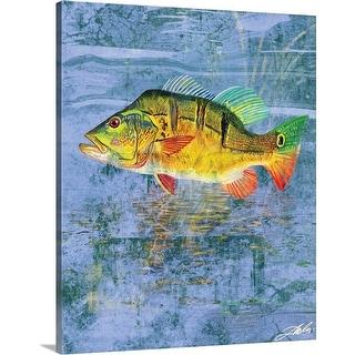"""""""Peacock Bass"""" Canvas Wall Art"""