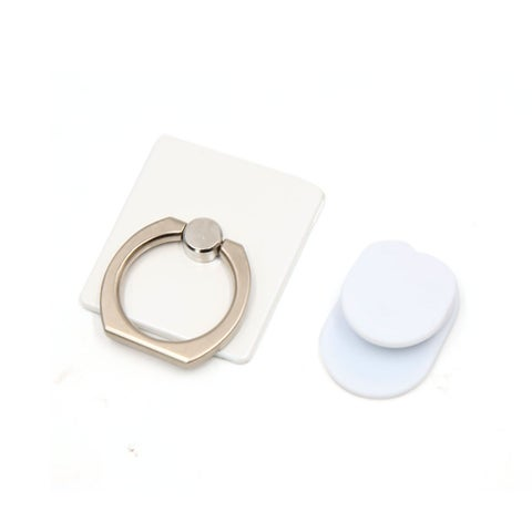 Unique Bargains Universal White 360 Degree Rotatable Cell Mobile Phone Holder Ring Stent