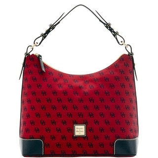 Dooney & Bourke Madison Signature Large Erica (Introduced by Dooney & Bourke at $198 in Jul 2016) - Cranberry