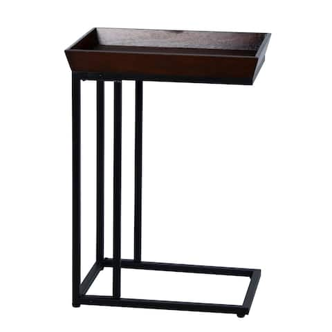 """Lamps Per Se Metal C-Table with Tray Top - 18X12.5X25"""""""