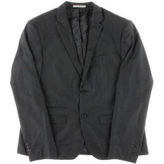 Edge by WD-NY Mens Skinny Fit Notch Collar Two-Button Blazer - XXL