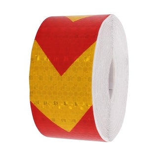 Red Yellow Reflective Conspicuity Tape Warning Tape 5cm Width 15m Length