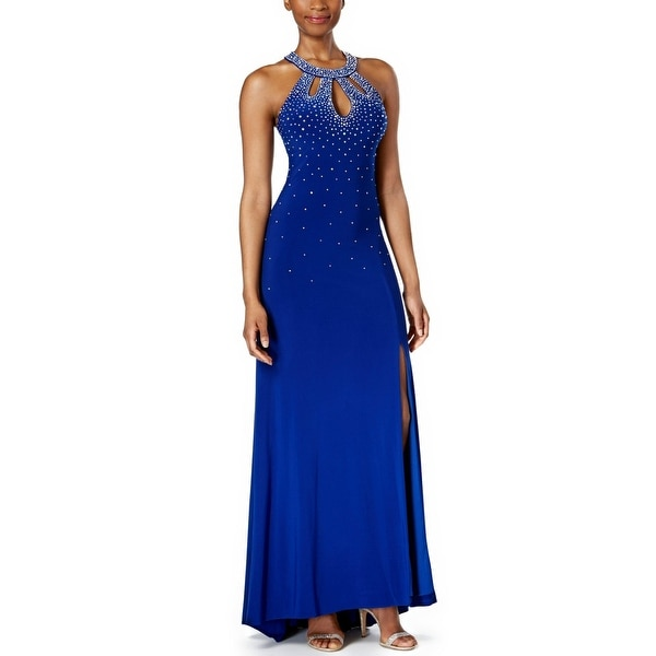 Nightway Embellished Halter Evening Gown Dress - 4 - Free Shipping ...