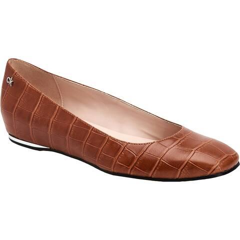 Calvin Klein Womens Heidy Moccasins Flats Slip On - Croc